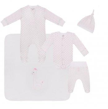 Набор одежды для новорожденных Sasha Горошек Розовый 4597/30