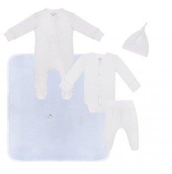 Набор одежды для новорожденных Sasha Горошек Голубой 4597/40