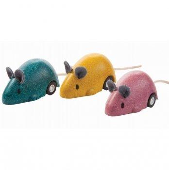 Деревянная игрушка PlanToys® Мышка, которая бегает (1 шт)