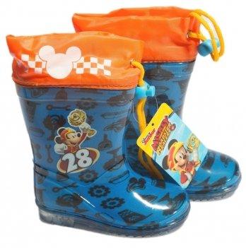 Сапоги резиновые Disney Микки и веселые гонки, синие