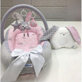 Кокон-гнездышко Happy Luna 0117 Babynest Plush Зайчик 4