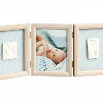 Фоторамка с набором для создания отпечатков Baby Art тройная, винтаж