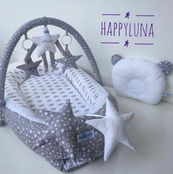 Кокон-гнездышко Happy Luna 0132 Babynest Standart Звездопад
