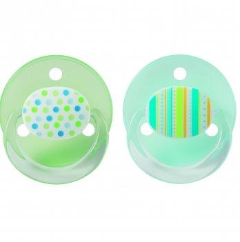 Пустышка круглая Baby-Nova 3966372 зеленый силикон 2 шт