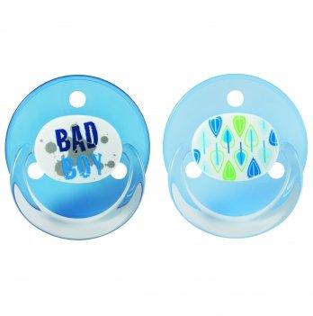 Пустышка круглая Baby-Nova 3966374 голубой силикон 2 шт