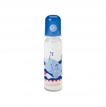 Бутылочка стеклянная Baby-Nova 3966359 синий 250 мл