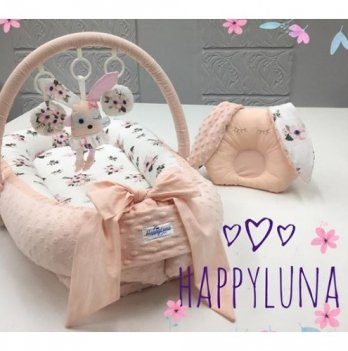 Кокон-гнездышко Happy Luna 0109 Babynest Plush Цветочек