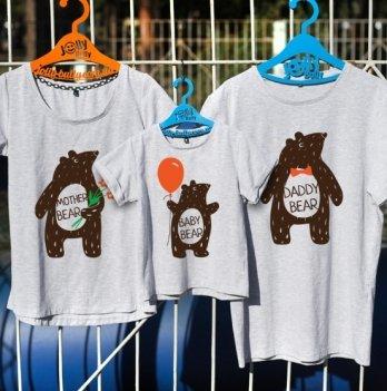 Фэмили лук семейный Jolly Bully Мишки, футболки