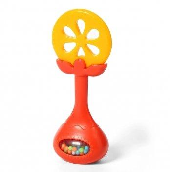 Прорезыватель развивающий с погремушкой BabyOno Апельсин 499/01
