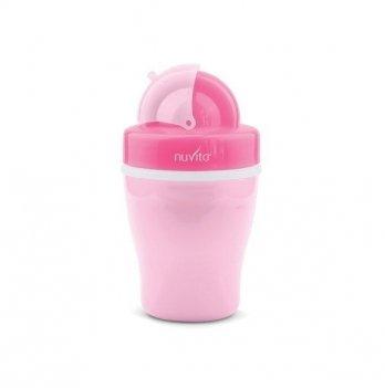 Детский поильник с трубочкой Nuvita 18м+, 200мл, розовый