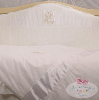 Защита для кроватки в комплект Baby chic жемчужный Маленькая Соня