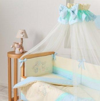 Балдахин на кроватку Маленькая Соня Funny BunnyМолочный/Голубой 051707