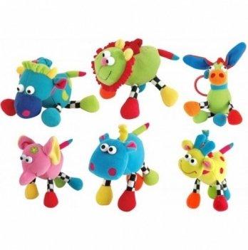 Мягкая игрушка Canpol babies Веселые зверята, музыкальная
