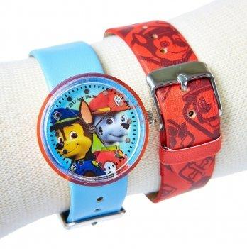 Часы Arditex Disney Щенячий патруль, с 2-мя съемными ремешками, голубые