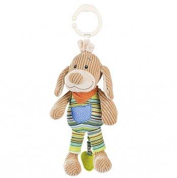 Игрушка-подвеска музыкальная BabyOno Вельветовая собачка, 1124