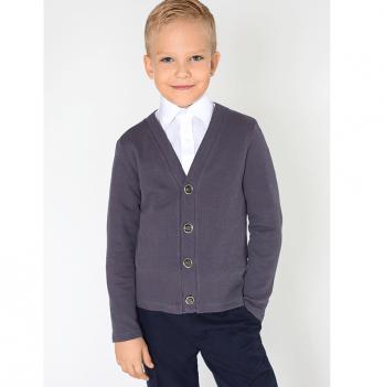 Кардиган для мальчика Модный карапуз, темно-серый