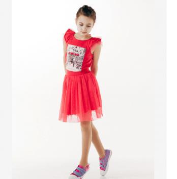 Юбка для девочки Smil от 7 до 10 лет красная