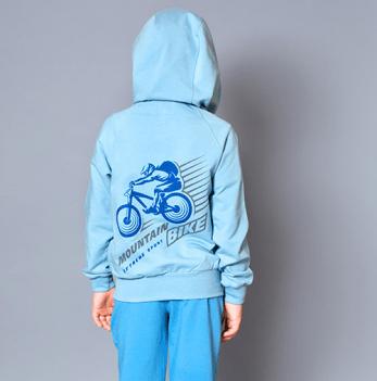 Джемпер на молнии для мальчика Модный карапуз Mountain bike, голубой