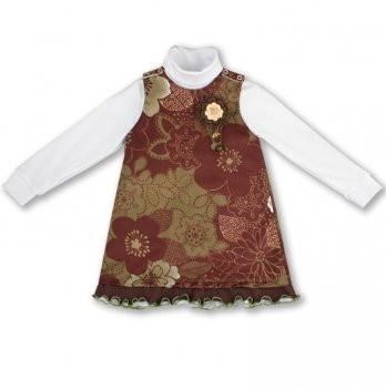 Комплект для девочки PaMaYa 5-10 коричневый