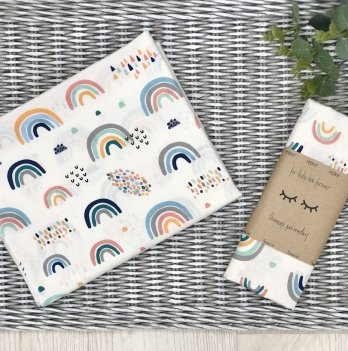 Пеленка для детей бязь Маленькая СоняРадуги Белый/Голубой4667501
