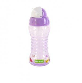 Поильник для путешествий с трубочкой Baby Team 5005 фиолетовый