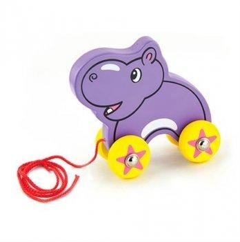Игрушка-каталка Viga Toys Бегемот