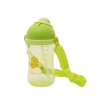 Поильник с силиконовой трубочкой Baby Team 5010 зеленый