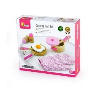 Набор Viga Toys Маленький повар, розовый 50116