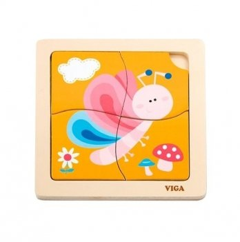 Пазл Viga Toys Бабочка 50136