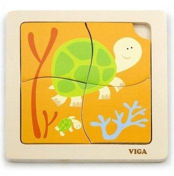 Пазл Viga Toys Черепашки 50143