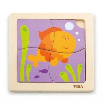 Пазл Viga Toys Рыбка 50144