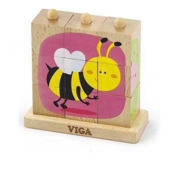 Пазл-пирамидка Viga Toys Насекомые 50158