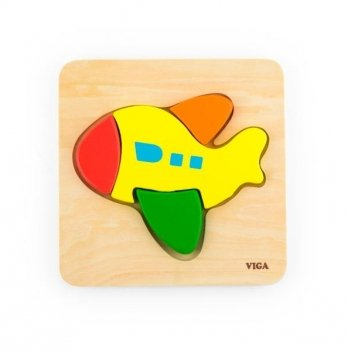 Мини-пазл Viga Toys Самолет 50173