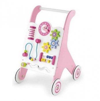 Ходунки-каталка Viga Toys розовые