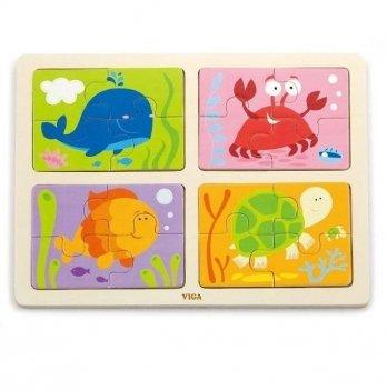 Пазл Viga Toys Море 4-в-1 50190