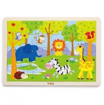 Пазл Viga Toys Сафари 50198 24 шт