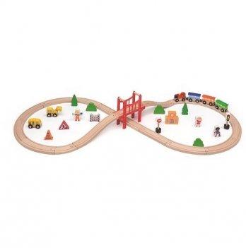 Железная дорога Viga Toys 50266 39 шт