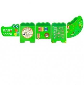 Настенная игрушка Viga Toys бизиборд Крокодил 50346