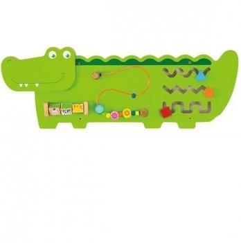 Настенная игрушка бизиборд Viga Toys Крокодил 50469