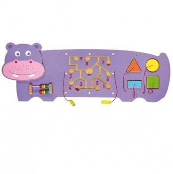 Настенная игрушка бизиборд Viga Toys Бегемот 50470