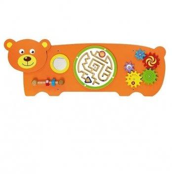 Настенная игрушка бизиборд Viga Toys Медведь 50471