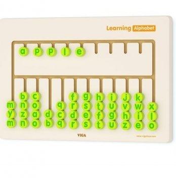 Игрушка настенная бизиборд Viga Toys Алфавит 50674
