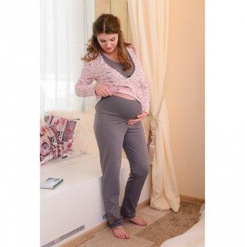 Пижама для беременных и кормящих мам MammaLux , Розовая дымка