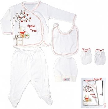 Комплект для новорожденного Sevnur, красный