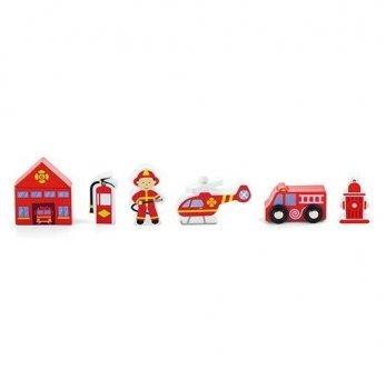 Дополнительный набор к ж/д Viga Toys Пожарная станция 50815