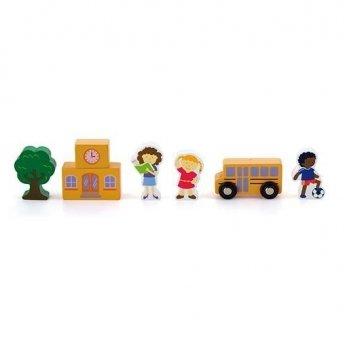 Дополнительный набор к ж/д Viga Toys Школа 50816