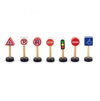 Дополнительный набор к ж/д Viga Toys Дорожные знаки 50817
