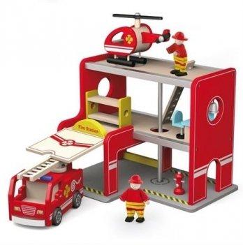 Игровой набор Viga Toys Пожарная станция