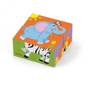Пазл-кубики Viga Toys Сафари 50836