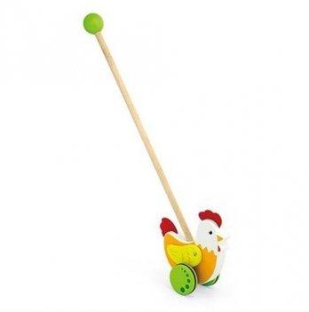 Игрушка-каталка Viga Toys Курочка